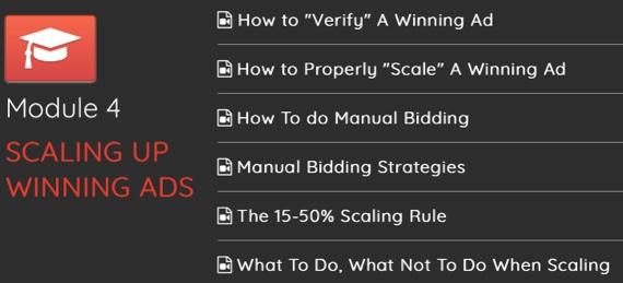 module 4 scaling up winning ads