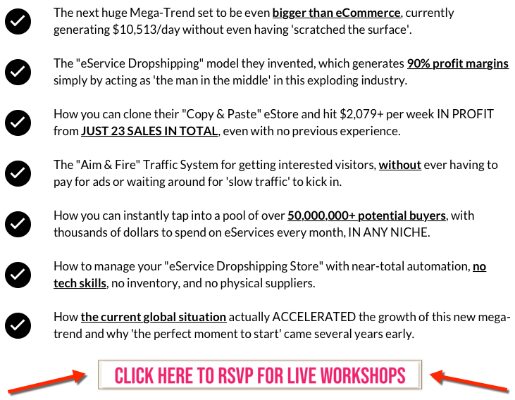 live workshop details