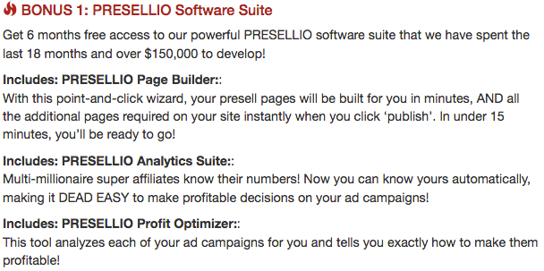 bonus 1 presellio software suite