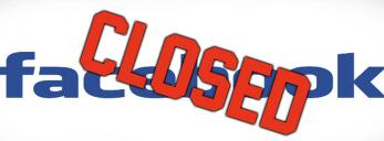 facebook accounts closed