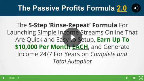 passive profits formula video